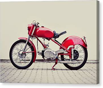 Vintage Italian Motorcycle Canvas Print by Thepalmer