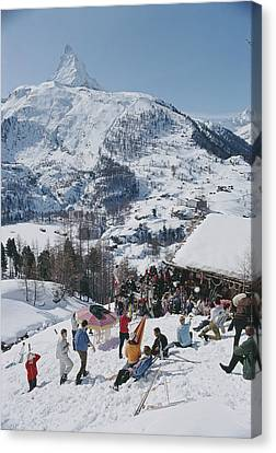 Zermatt Skiing Canvas Print