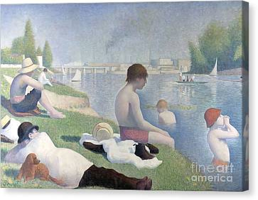 Bathers At Asnieres Canvas Print