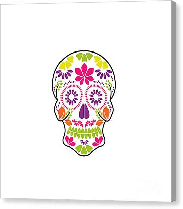 Day Of The Dead Candy Sugar Voodoo Decorative Floral Skull Mirror Wall Hanging
