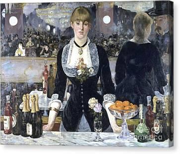 A Bar At The Folies Bergere Canvas Print