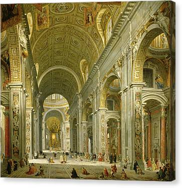 Panini Interior Pantheon Rome Monumant Painting Large Canvas Art Print