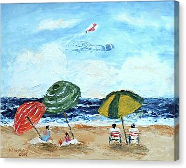 A Beach Day Canvas Print