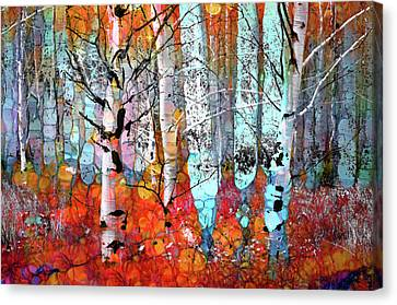 A Party In The Forest Canvas Print