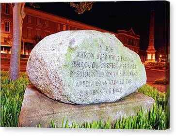 Canvas Print featuring the photograph A Rock In Chester by Joseph C Hinson Photography