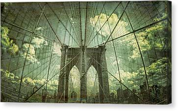 Abstract Brooklyn Bridge  Canvas Print