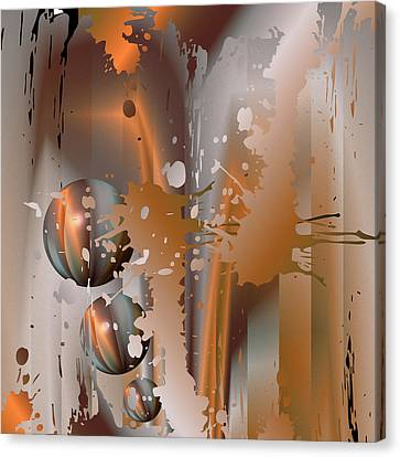 Canvas Print featuring the digital art Abstract Copper by Robert G Kernodle