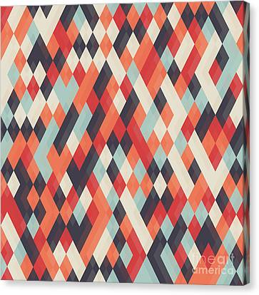 Abstract Geometric Background For Canvas Print by Churunchik