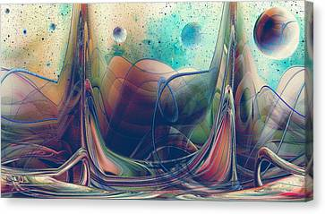Canvas Print featuring the digital art Turbulence by Robert G Kernodle