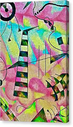 Abstract Xylophone Canvas Print