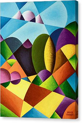 Abstracted Landscape Canvas Print