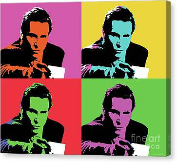 American Psycho Pop Art Canvas Print