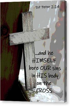 And He Himself Bore Our Sins Canvas Print