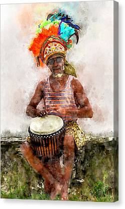 Antiguan Drummer Canvas Print