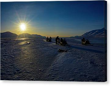 Arctic Snowmobile Expedition Canvas Print