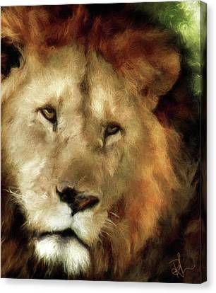 Canvas Print featuring the digital art Aslan by Pennie  McCracken