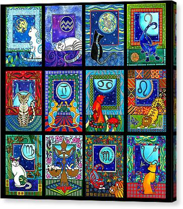 Astrology Cat Zodiacs Canvas Print