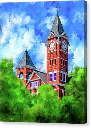 Memories Of Auburn - Samford Hall Canvas Print