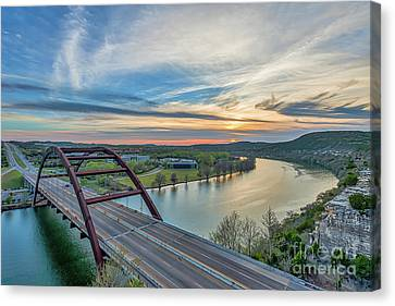 Austin 360 Bridge Sunset Canvas Print