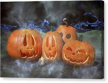 Autumn Halloween Pumpkin Evening Canvas Print