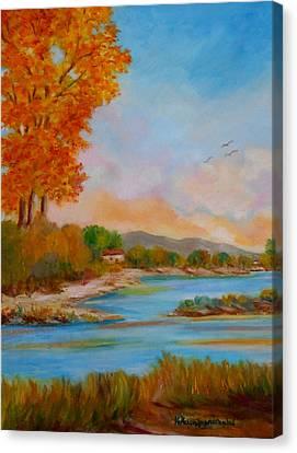 Autumnal Sunset Canvas Print