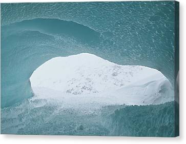 Avalanche In The Back Canvas Print