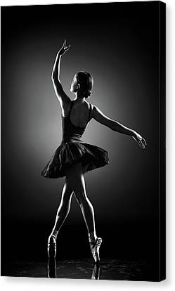 Black And White Ballerina Canvas Prints Fine Art America