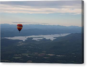 Balloon Over Lake George Canvas Print