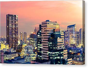 Twilight sunset in Bangkok Thailand Canvas Art Cheap Wall Print Home Interior