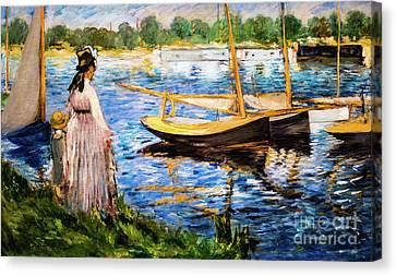 Banks Of The Seine At Argenteuil Canvas Print