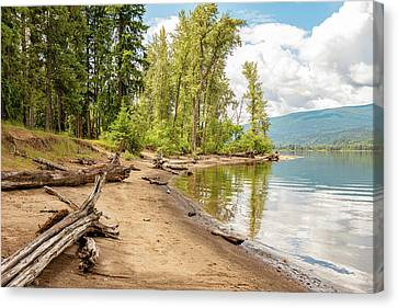 Beach At Mable Lake Canvas Print