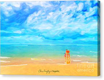 Beach Blues II Canvas Print