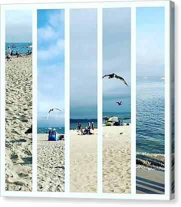 Beach Collage Canvas Print