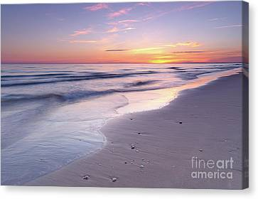 Beach Welcoming Twilight Canvas Print
