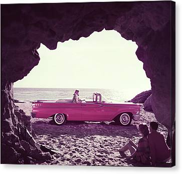 Beached Convertible Canvas Print by Tom Kelley Archive