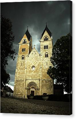 Before Storm At The Church Canvas Print