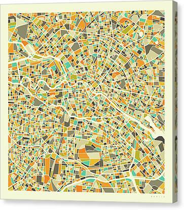 Berlin Map Canvas Prints Fine Art America