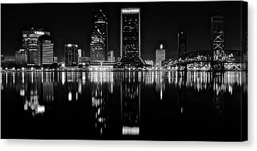 Black Night Along The St John River Canvas Print