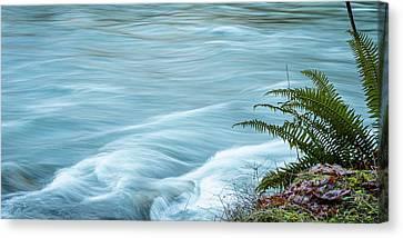 Blue River Flows By Canvas Print