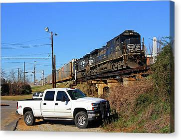 Canvas Print featuring the photograph Bmw Train In Columbia 21 by Joseph C Hinson Photography
