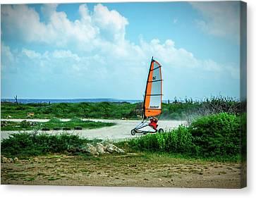 Bonaire Land Sailor  Canvas Print