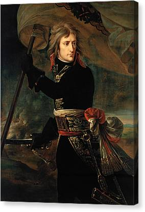 Bonaparte At The Pont D'arcole - Antoine-jean Gros Canvas Print