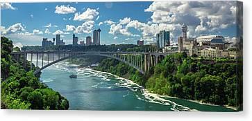 Border At Niagara  Canvas Print