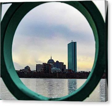 Boston's Back Bay Peeking Canvas Print