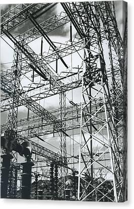 Boulder Dam Power Units, 1941 Canvas Print by Archive Photos