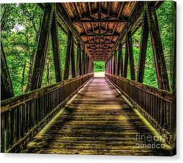 Bridge Over Vickery Creek Canvas Print