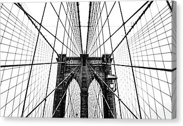 Brooklyn Bridge Web Canvas Print