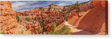 Bryce Canyon Np - Peek-a-boo Canyon Canvas Print