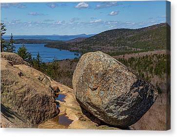 Acadia Np - Bubble Rock Canvas Print