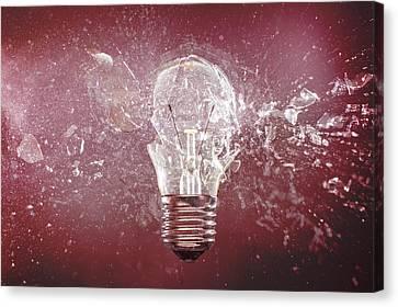 Bulb Explosion High Speed Photography Canvas Print